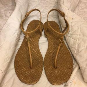 Tory Burch Womens Marion Thong Leather Sandal Sz 8